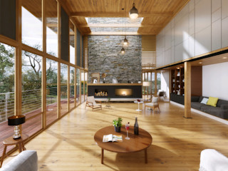 PhotoRealistic Architectural Rendering Services Los Angeles, California, USA JMSD Consultant - 3D Architectural Visualization Studio Living roomAccessories & decoration Grey