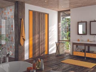 Ambiance Tropical Kazed Salle de bainRangements Panneau d'aggloméré Orange