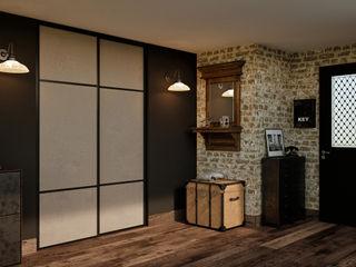 Ambiance vintage Kazed Couloir, entrée, escaliersCommodes & étagères Faux cuir Beige