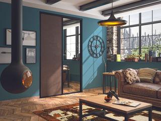Ambiance vintage Kazed SalonPlacards & Buffet Faux cuir Marron