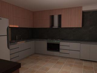 CG Diseño Dapur kecil Kayu