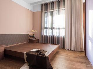 室內設計的牆壁材質與色系搭配 宸域空間設計有限公司 臥室床與床頭櫃