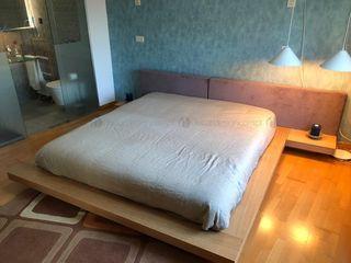 Decordesign Interiores СпальняЛіжка та спинки Дерево Фіолетовий / фіолетовий