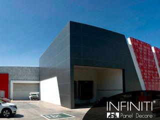 Infiniti Panel Decore Edifícios comerciais minimalistas Metal Vermelho