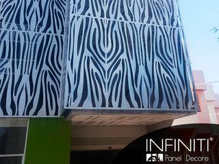 Infiniti Panel Decore Hotéis minimalistas Metal Branco