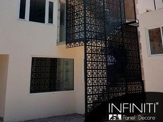 Infiniti Panel Decore Espaços comerciais minimalistas Metal Preto