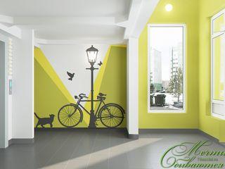 Компания архитекторов Латышевых 'Мечты сбываются' Corredores, halls e escadas minimalistas