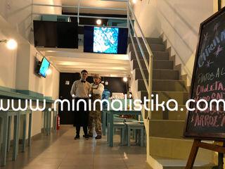 Minimalistika.com オフィス&店 合板(チップボード) 灰色