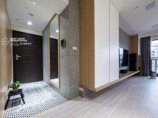 台中賴公館 築本國際設計有限公司 斯堪的納維亞風格的走廊,走廊和樓梯