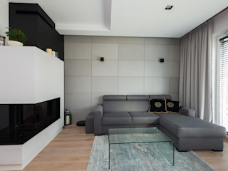 ZIZI STUDIO Magdalena Latos Modern Living Room Concrete Grey