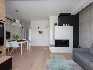 ZIZI STUDIO Magdalena Latos Modern Living Room Wood Black