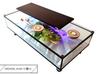 Table basse aquarium EVASION 30 LED sans fil VPA DESIGN SalonCanapés & tables basses Verre Noir
