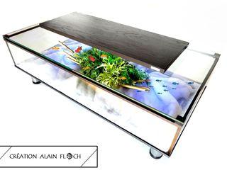 Table basse aquarium EVASION 30 LED sans fil VPA DESIGN SalonCanapés & tables basses Fer / Acier Noir