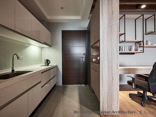 Hi+Design/Interior.Architecture. 寰邑空間設計 Коридор, прихожая и лестница в эклектичном стиле Дерево