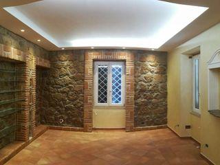 Appartamento stile rurale moderno Omnia Multiservizi - Roma Invest Soggiorno in stile mediterraneo