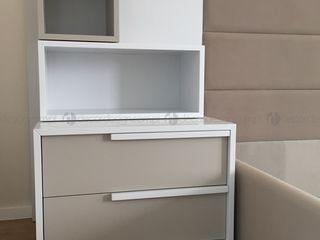 Decordesign Interiores СпальняПриліжкові тумбочки ДСП Білий