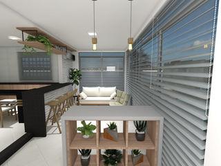 Projeto de reforma residencial em Ijuí-RS Cláudia Legonde Varandas Tijolo Branco
