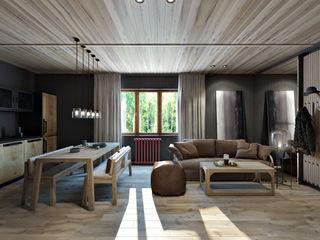 Suiten7 İskandinav Oturma Odası Ahşap Gri