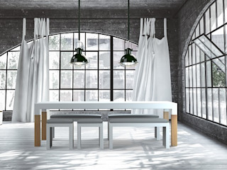 ONE TO SIT - indoor & outdoor furniture 餐廳桌子 鋁箔/鋅 White