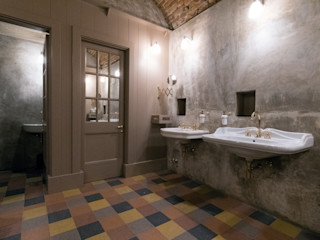 Focus bagno: la cura del cliente che continua in ogni spazio Idearredobagno.it Bagno in stile classico Rame / Bronzo / Ottone Ambra/Oro