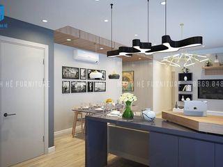 Designer Công ty Cổ Phần Nội Thất Mạnh Hệ KitchenStorage Chất xơ tự nhiên Blue