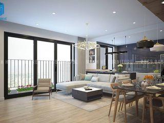 Designer Công ty Cổ Phần Nội Thất Mạnh Hệ Living roomSofas & armchairs Sứ White