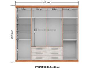 Decordesign Interiores ВбиральняГардероби та висувні ящики ДСП Дерев'яні
