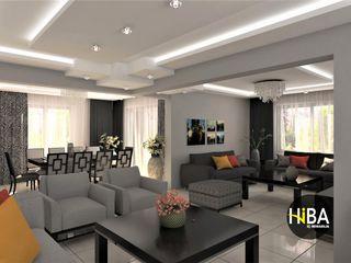 Hiba iç mimarik Modern dining room Grey