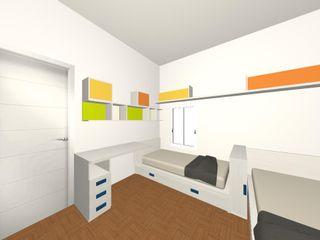 Uno spazio per due Spaziojunior Camera ragazzi Arancio