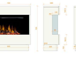 muenkel design - Elektrokamine aus Großentaft SalonesChimeneas y accesorios