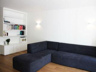 Metaphor Design Minimalist living room Engineered Wood Blue
