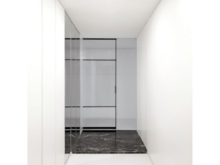 WITHJIS(위드지스) Corredores, halls e escadas modernos Alumínio/Zinco Preto