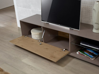 Decordesign Interiores ВітальняПідставки для телевізорів та шафи ДСП Сірий