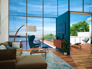 Citlali Villarreal Interiorismo & Diseño Scandinavian style living room