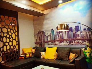 Maayish Architects SalonAccessoires & décorations Gris