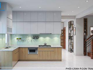 Designer Công ty Cổ Phần Nội Thất Mạnh Hệ Bếp nhỏ Đồng / Đồng / Đồng thau White