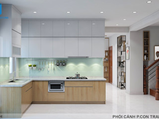 Designer Công ty Cổ Phần Nội Thất Mạnh Hệ Tủ bếp Đồng / Đồng / Đồng thau White