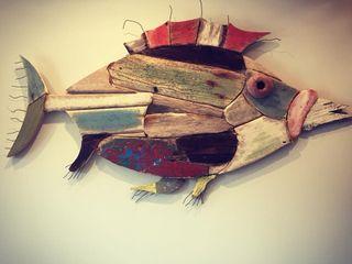 Artigos de Decoração Artesanais em madeira reciclada Officina Boarotto ArteImagens e pinturas Madeira Multicolor