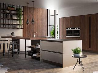 Cucina moderna L&M design di Marelli Cinzia Cucina attrezzata Legno Effetto legno