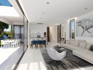 Villas Seaview VAQUERO&WORKGROUPS Viviendas Salones de estilo mediterráneo