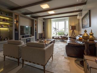 Espaço do Traço arquitetura Living room Beige