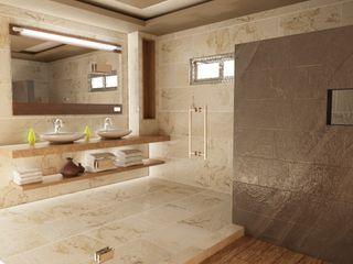 OLLIN ARQUITECTURA Banheiros modernos