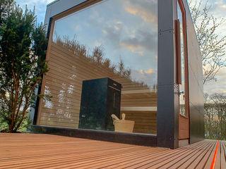 design@garten - Alfred Hart - Design Gartenhaus und Balkonschraenke aus Augsburg Sauna Bois composite Noir