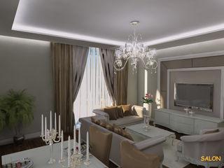 Miapera MİMARLIK Salones de estilo clásico Madera Beige