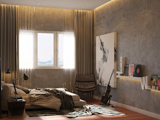 Norm designhaus Kamar Tidur Gaya Rustic