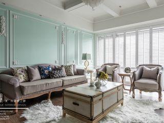 百玥空間設計 Salon classique Béton Vert