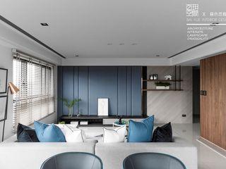 百玥空間設計 Salon original Béton Bleu