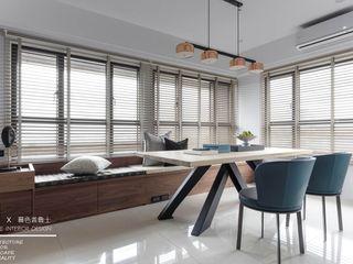 百玥空間設計 Eclectic style dining room Solid Wood Wood effect