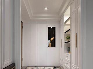 百玥空間設計 Couloir, entrée, escaliers classiques Marbre Blanc