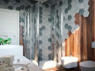mcp-render Banheiros modernos Azulejo Multi colorido